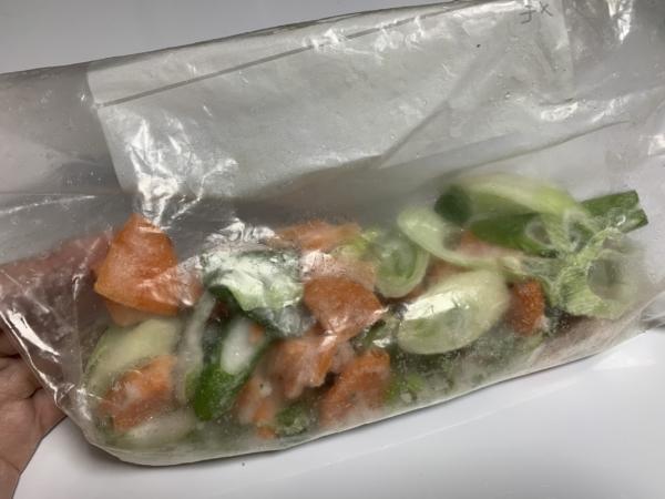 野菜冷凍保存
